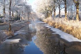 Helenavaart in de winter